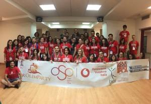 volontari del Parolimparty che si terrà a Milazzo - Messina