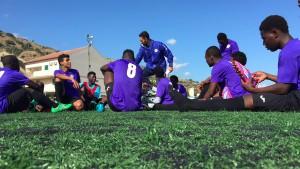 minori migranti di casa ahmed al campo da calcio