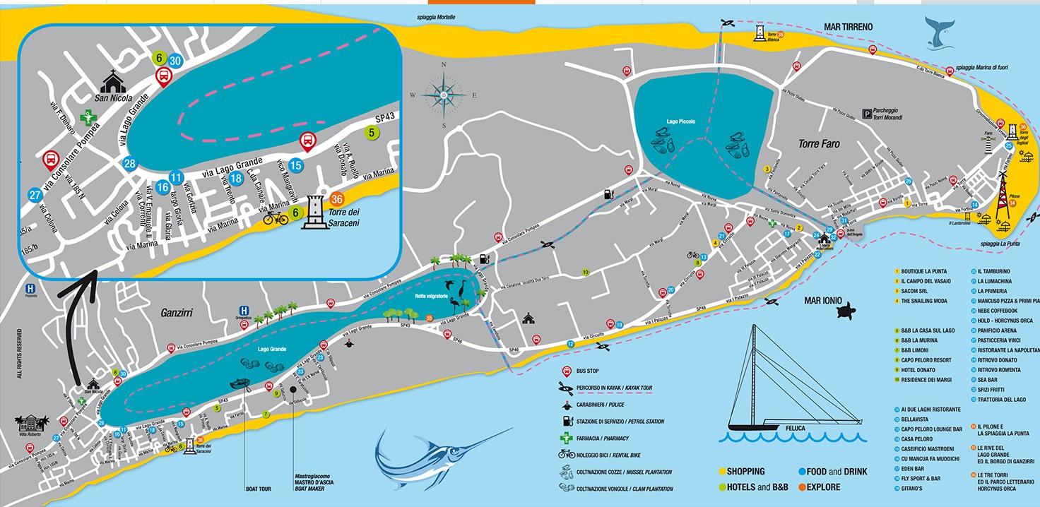 Mappa Pro Loco Capo Peloro