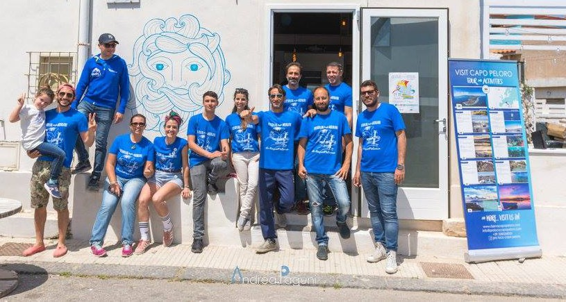 foto dello staff della Pro Loco Capo Peloro