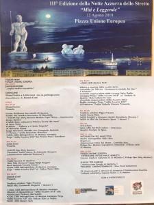 programma notte azzurra dello stretto - piazza unione europea - messina