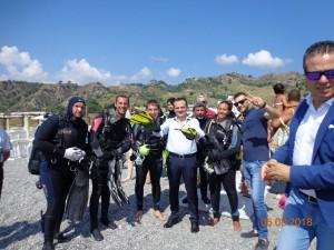 pulizia fondali santa margherita - messina - a opera del trinacria diving centre
