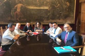 Foto della riunione per la rimodulazione del PON Metro