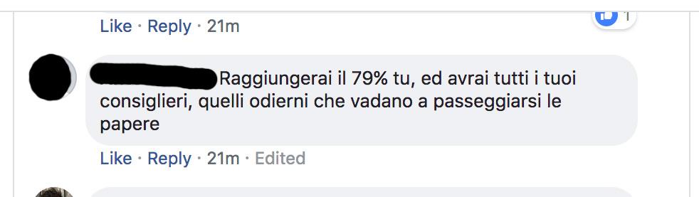 commenti su facebook alle dimissioni di cateno de luca da sindaco di messina