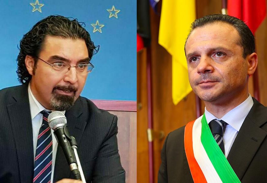 Domenico Siracusano di Articolo Uno Mdp e Cateno De Luca sindaco di Messina