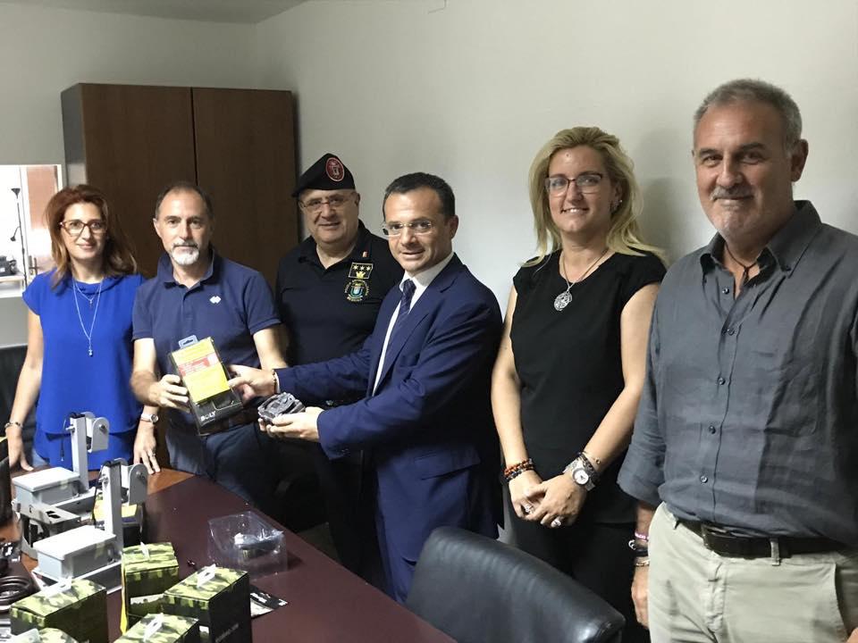 foto del sindaco Cateno De luca, insieme all'Assessore Dafne Musolino e al presidente di MessinaServizi Pippo Lombardo