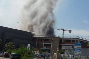 Messina. Incendio in un'aula del Dipartimento di Scienze a Papardo