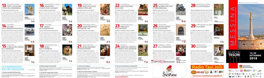 programma de Le vie dei tesori 2018 edizione di Messina
