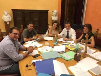 riunione de luca e giunta per finanziamenti messina