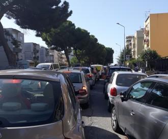 traffico in tilt nel viale regina elena messina