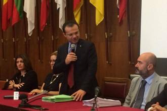 Cateno De Luca - conferenza stampa Salva Messina
