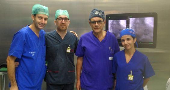 equipe ospedale Piemonte Messina, impianto pacemaker uomo 106 anni