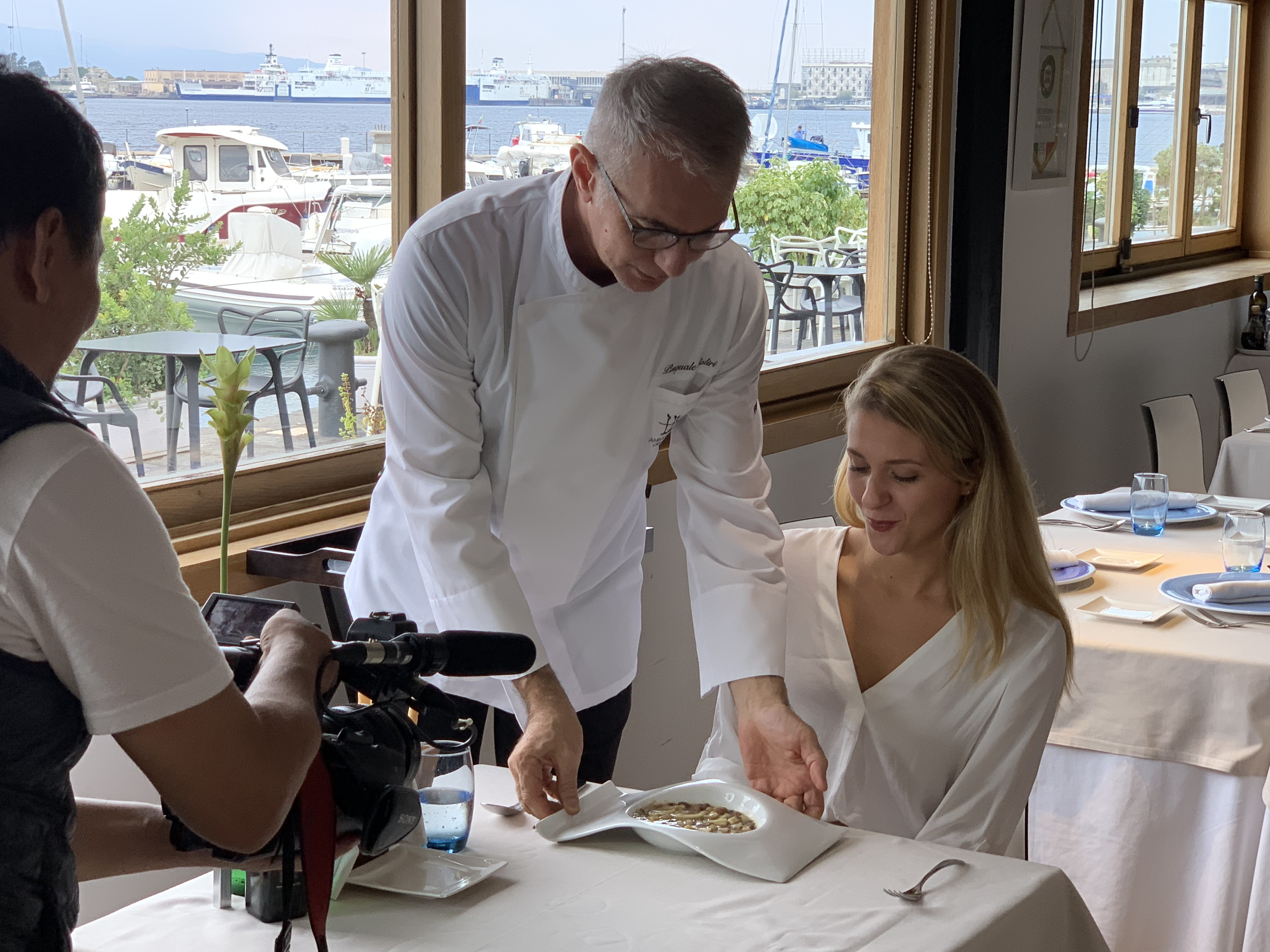 Miss Sicilia e lo chef Pasquale Caliri