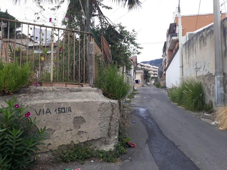 foto delle baracche di via 150/A all'Annunziata, oggetto del progetto di risanamento e sbaraccamento di Messina