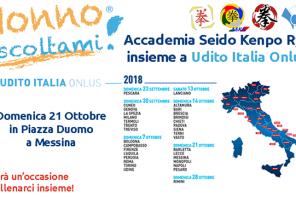 Nonno Ascoltami: l'Accademia Seido Kenpo Ryu di Messina al fianco di Udito Italia Onlus
