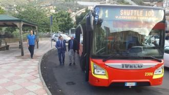 il nuovo autobus shuttle di atm messina