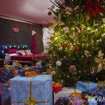 Albero di natale e regali nella casa di Babbo Natale allestita per i bambini a piazza Cairoli, Messina