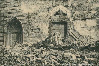facciata del Duomo di Messina dopo il Terremoto del 1908
