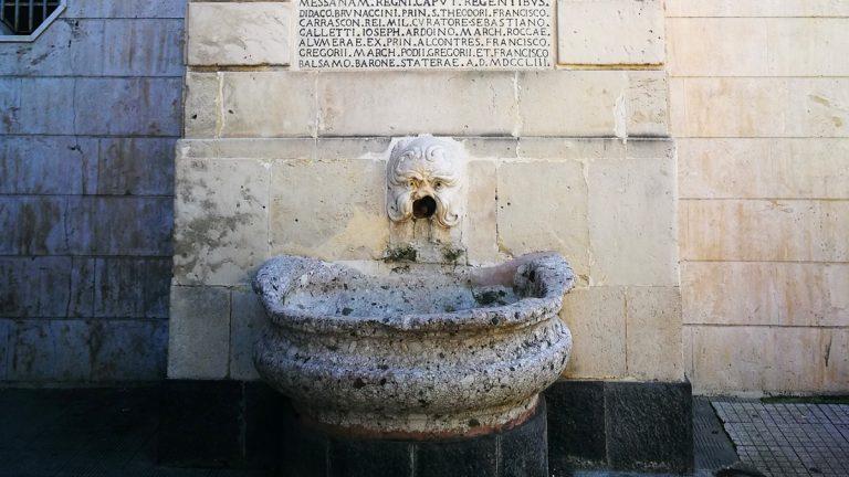 fontana senatoriale di contesse a messina