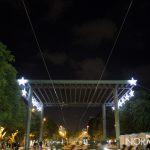 Piazza Cairoli (Messina) illuminata per il Natale 2018