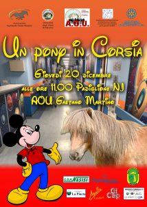 un pony in corsia