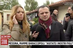De Luca su Rai 1 tra le baracche di Messina. Musumeci: in arrivo 42 milioni