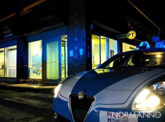 Pattuglia di fronte alla posta di via La Farina, esplosione bomba poste messina