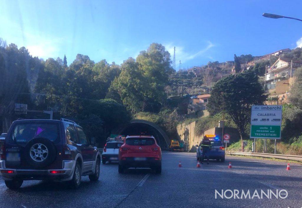 incidente sull'autostrada messina catania