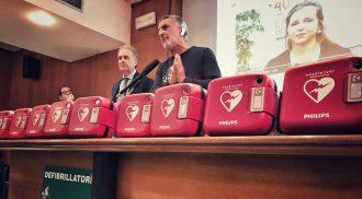 Foto della conferenza stampa per il progetto Messina Cardioprotetta - defibrillatori accorinti