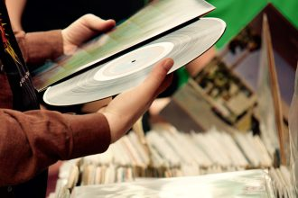 foto di dischi in vinile