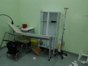 La stanza dell'aggressione a una dottoressa di turno al mandalari di messina