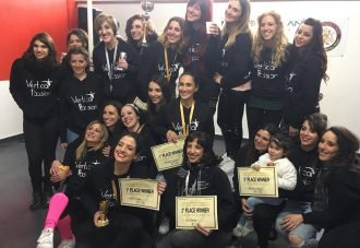 atlete della vertical passion pole dance messina