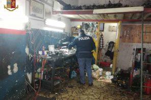 Polizia di Stato scova un'officina irregolare a Giostra: gravi sanzioni per i titolari