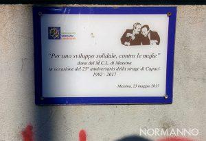 targa in memoria di Falcone e Borsellino