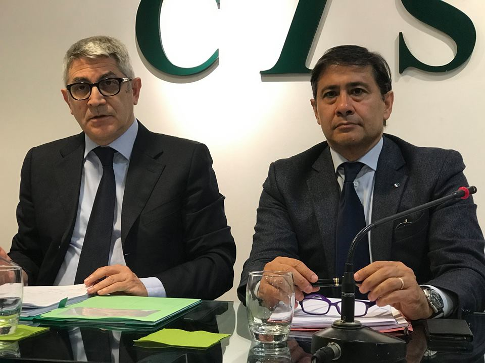 Tonino Genovese e Sebastiano Cappuccio Cisl Messina