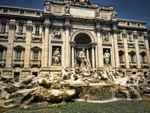 Foto della fontana di Trevi, Roma