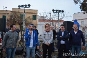 Foto di Nello Cutugno, Dafne Musolino e Paolo Alibrandi - Apertura del Festival degli Aquiloni 2019 - Capo Peloro