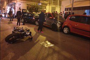 Messina: brutto incidente in via XXIV Maggio. Coinvolte due auto ed una moto