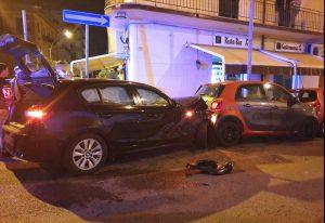 Foto incidente auto moto via xxiv maggio e via felice bisazza