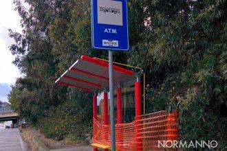 nuove pensiline ATM alla fermata dello shuttle di Mili, messina
