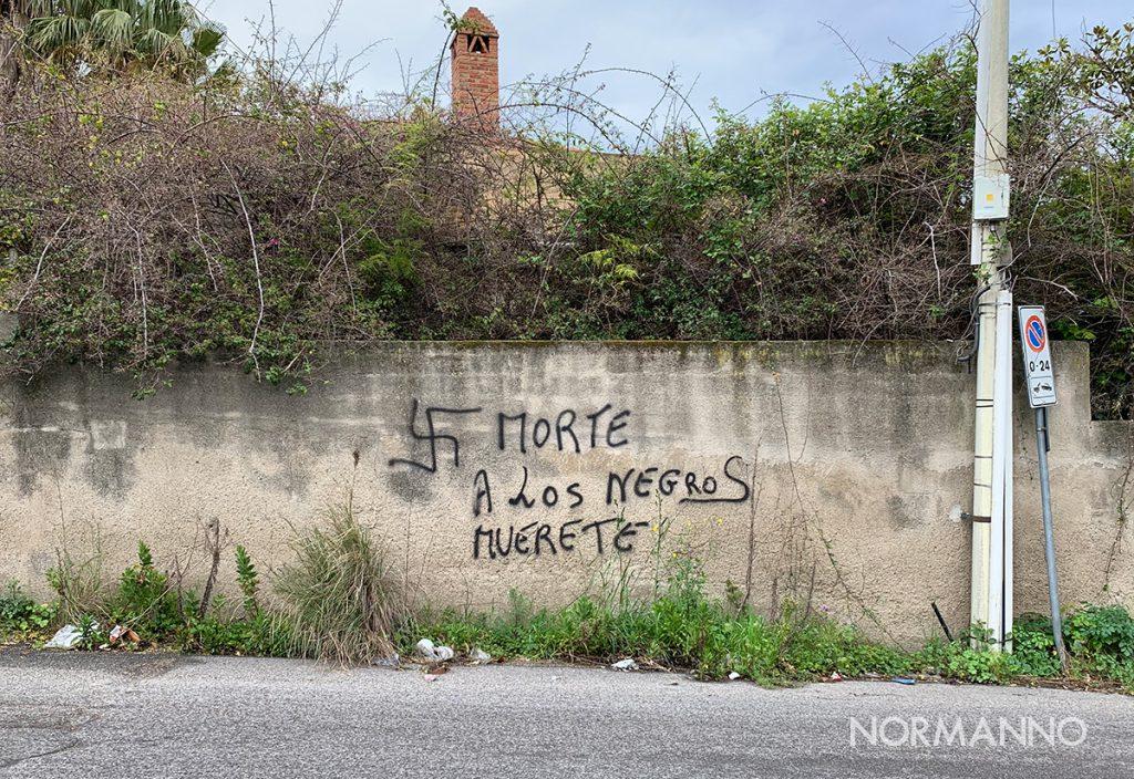 scritta razzista granatari messina1