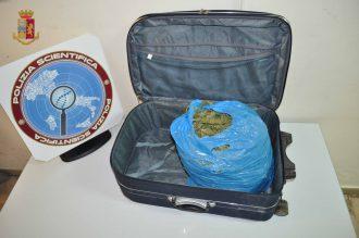 Foto della marijuana sequestrata agli imbarchi della rada San Francesco
