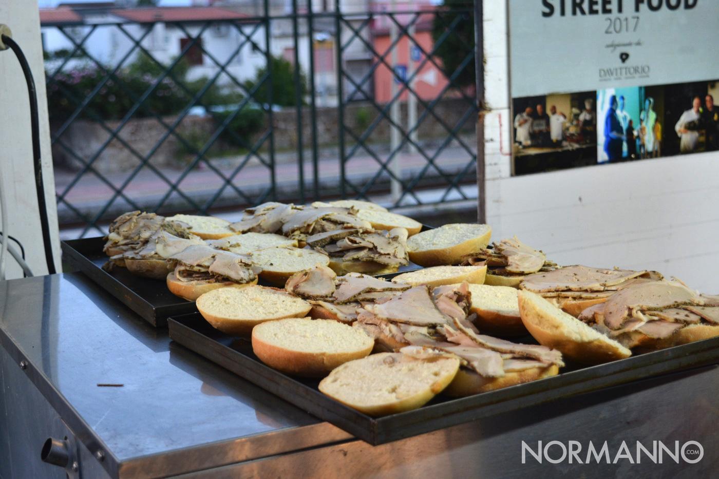 Foto del panino con la porchetta allo Street Food di Primavera 2019