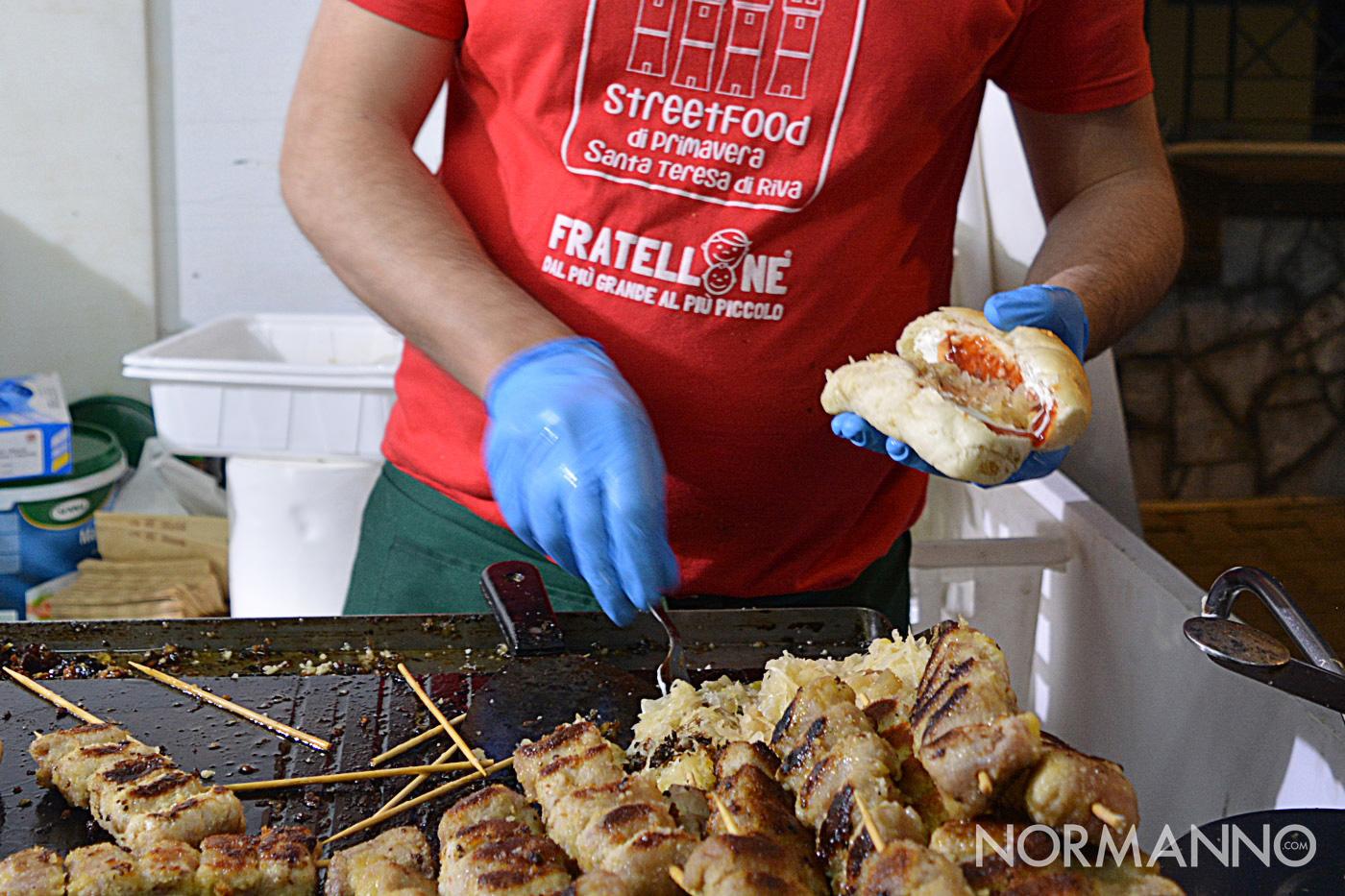 Foto del panino con le braciole allo Street Food di Primavera 2019
