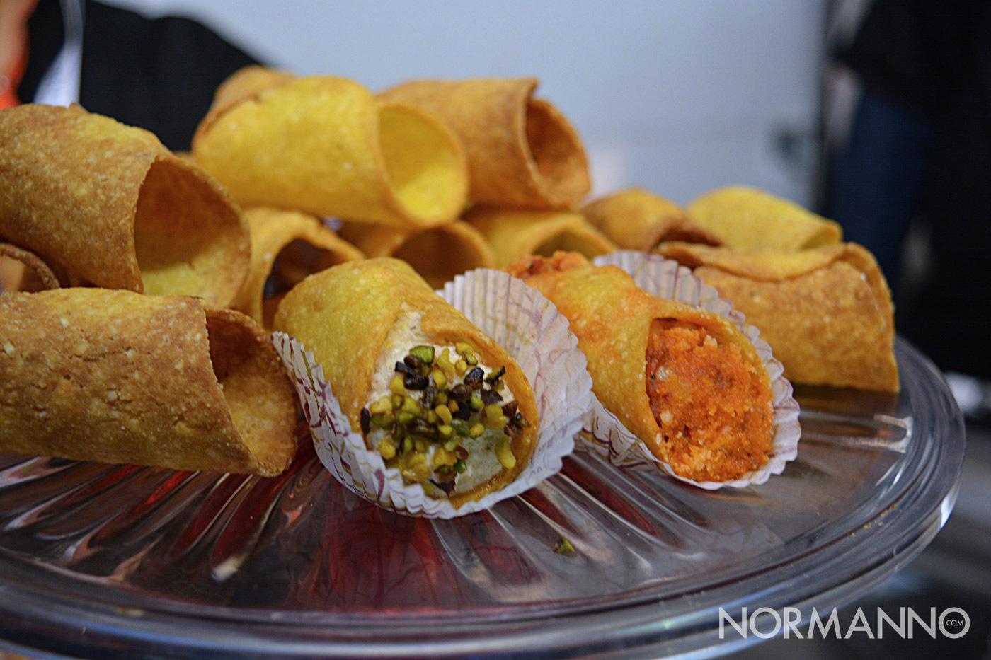 Foto del cannolo arancino allo Street Food di Primavera 2019