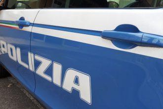 Dettaglio di una volante della Polizia di Messina