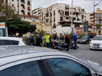 Foto dei soccorsi del 118 intervenuti per incidente sulla litoranea di Messina