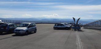 Foto del parcheggio sopra la stazione ferroviaria di Messina