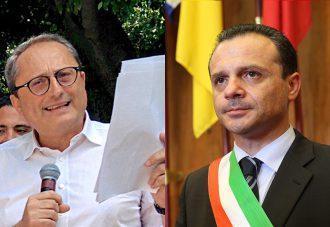 Foto confronto, Antonio Saitta e Cateno De Luca - amministrative sindaco di Messina