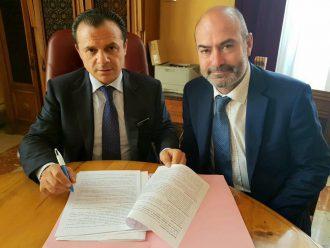 sindaco di messina cateno de Luca e vicesindaco mondelllo